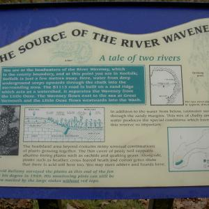 Sign Source of River Waveney